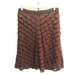 Ipsa Anthro A-line midi skirt